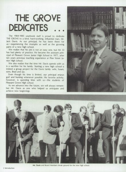 1985 Pleasant Grove High School Yearbook Page 6