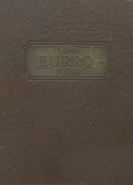 1924 Mineral Wells High School Yearbook Cover