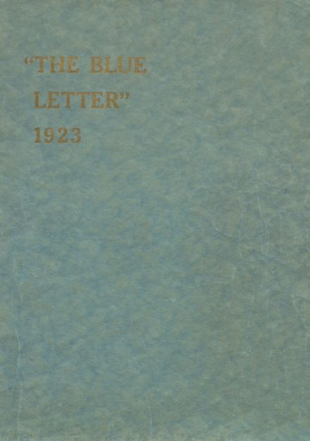 1923 Metuchen High School Yearbook Cover