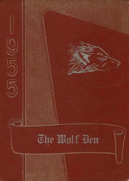 1955 Dilley High School Yearbook Cover