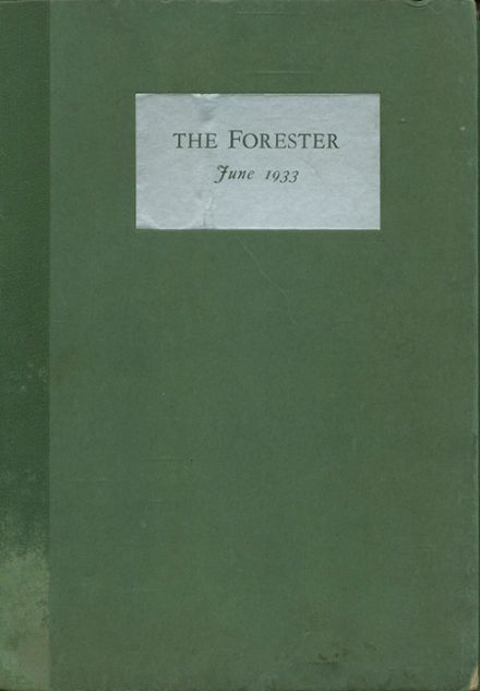 1933 Forest Park High School 406 Yearbook Cover