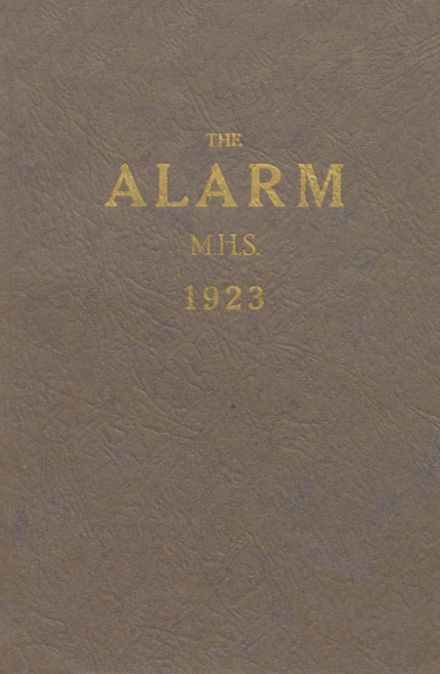 1923 Manlius High School Yearbook Cover