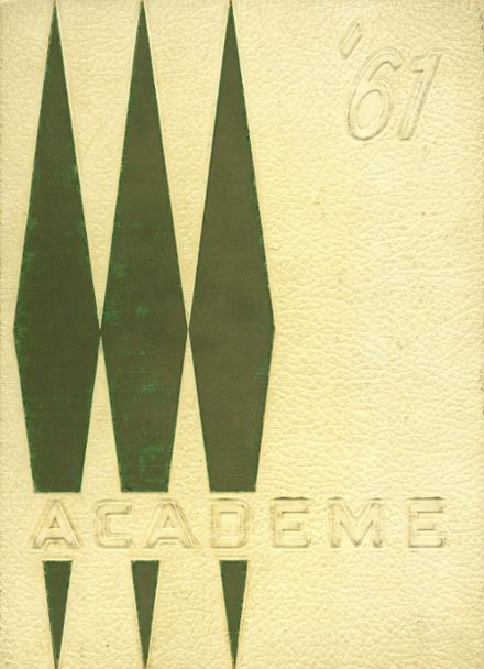 1961 Academy High School Yearbook Cover