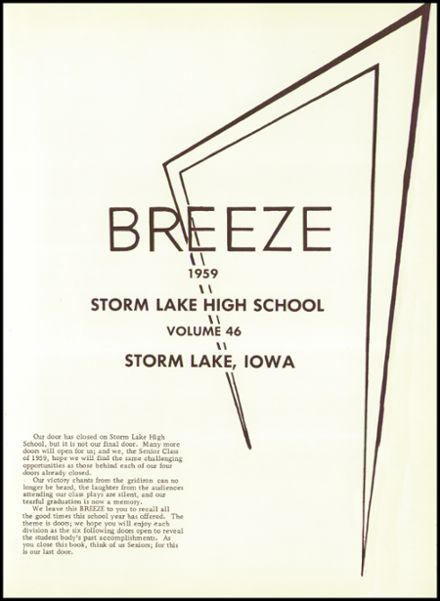 1959 Storm Lake High School Yearbook Page 5