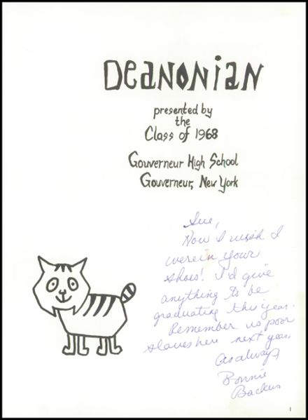 1968 Gouverneur High School Yearbook Page 5
