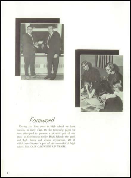 1968 Gouverneur High School Yearbook Page 6