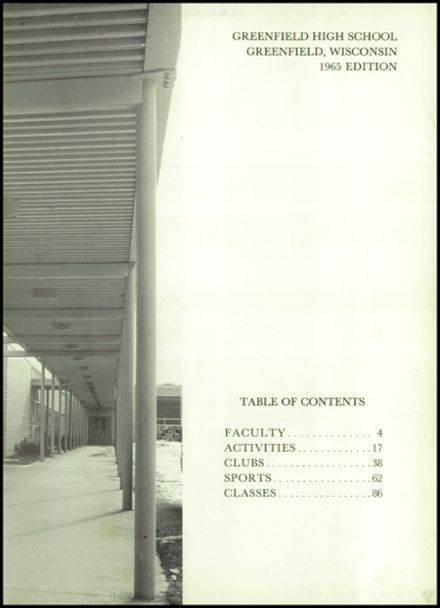 1965 Greenfield High School Yearbook Page 7