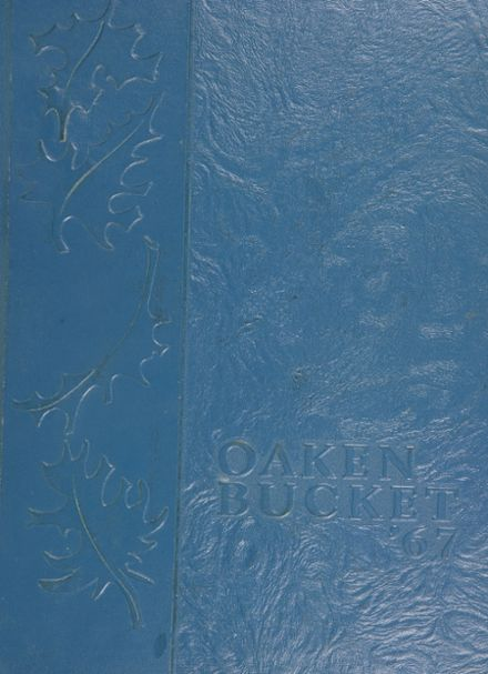 1967 Oakland High School Yearbook Cover