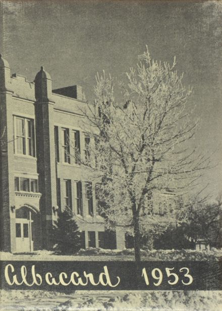1953 Albion High School Yearbook Cover