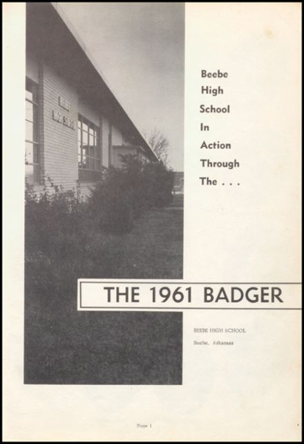 1961 Beebe High School Yearbook Page 5