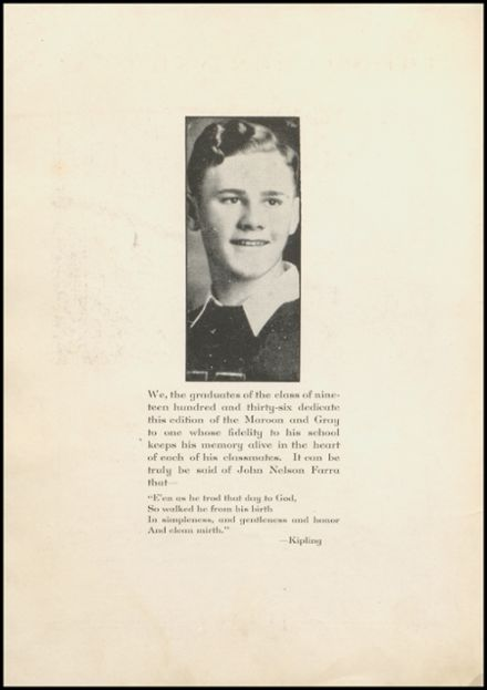 1936 Hagerstown High School Yearbook Page 6
