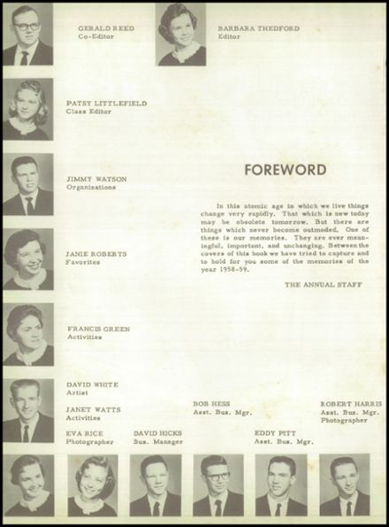 1959 Pittsburg High School Yearbook Page 6