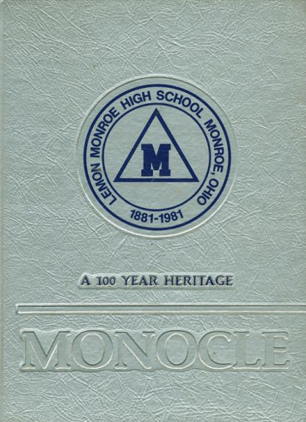 1982 Lemon Monroe High School Yearbook Cover