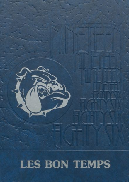 1986 Plain Dealing Academy Yearbook Cover