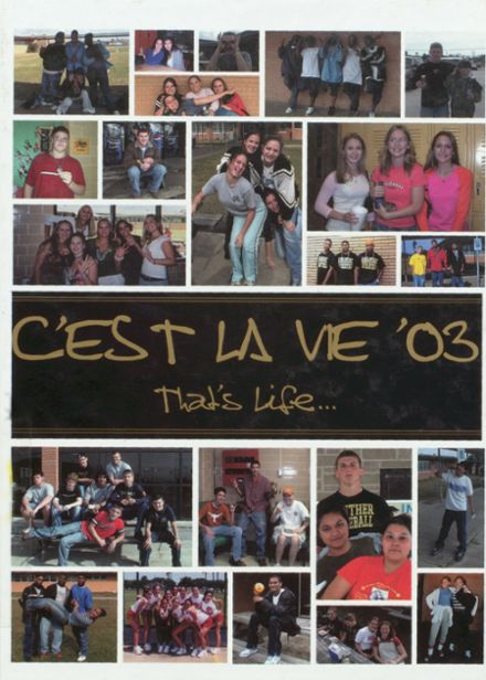 2003 Anahuac High School Yearbook Cover
