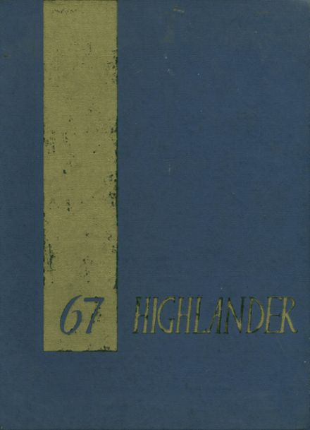 1967 Highland High School Yearbook Cover