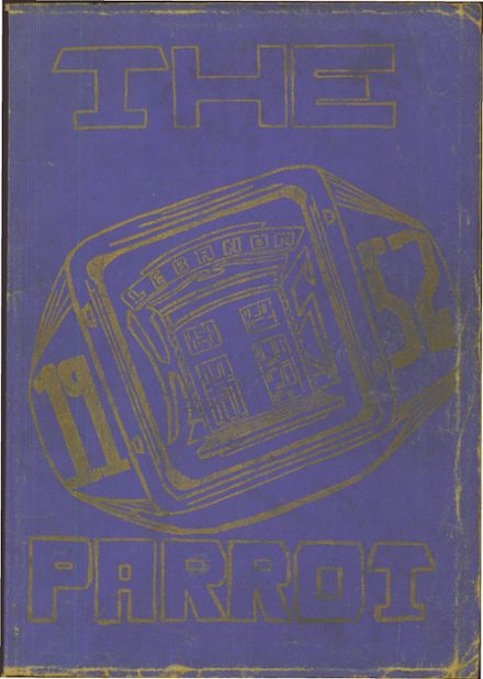 1952 Lebanon High School Yearbook Cover