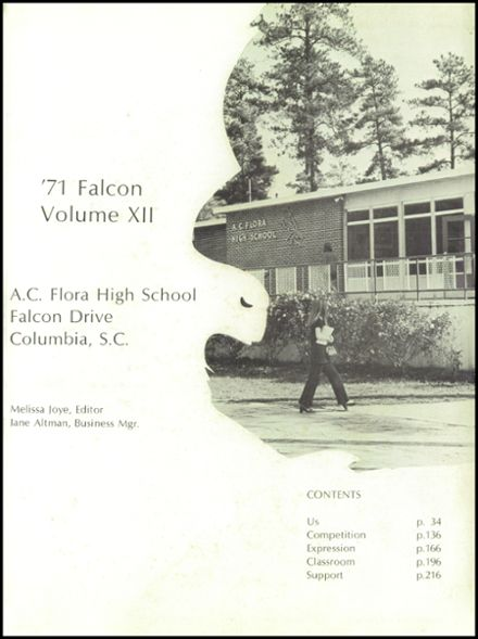1971 A.C. Flora High School Yearbook Page 5