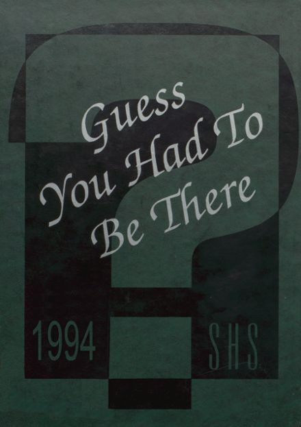 1994 Stratton High School Yearbook Cover