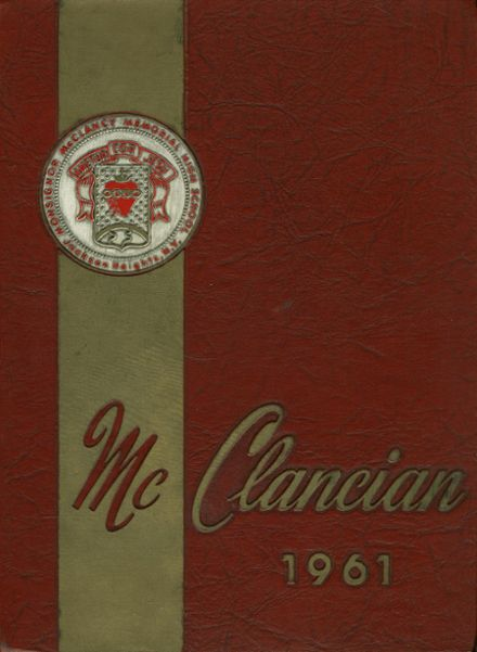 1961 Monsignor McClancy High School Yearbook Cover
