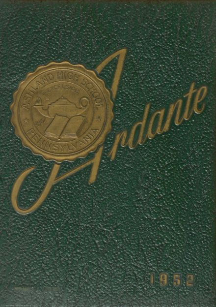 1952 Ashland High School Yearbook Cover