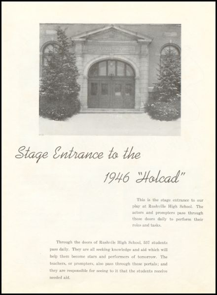 1946 Rushville Consolidated High School Yearbook Page 9