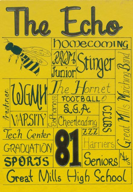 1981 Great Mills High School Yearbook Cover