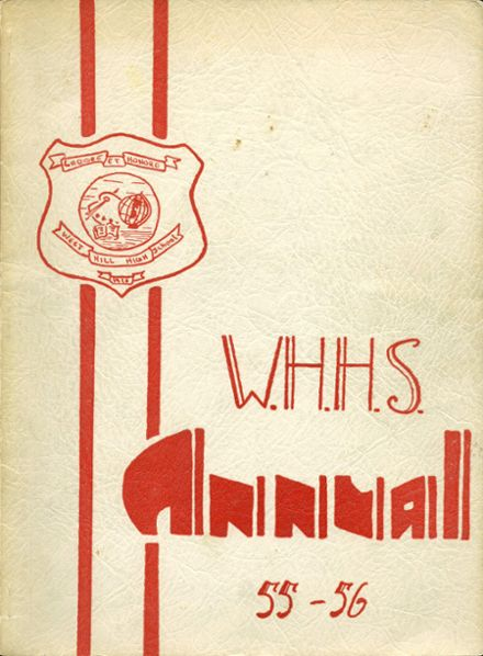 1956 West Hill High School Yearbook Page 1