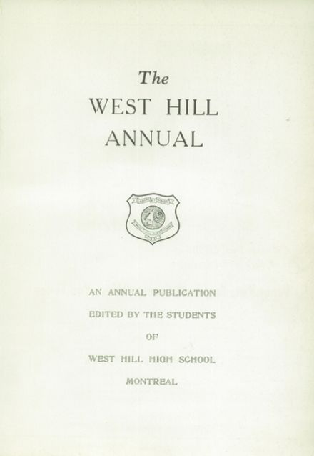 1956 West Hill High School Yearbook Page 3