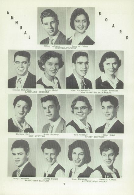 1956 West Hill High School Yearbook Page 9