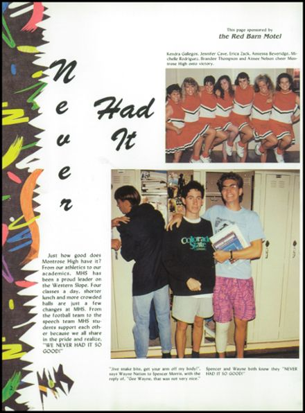 1992 Montrose High School Yearbook Page 6