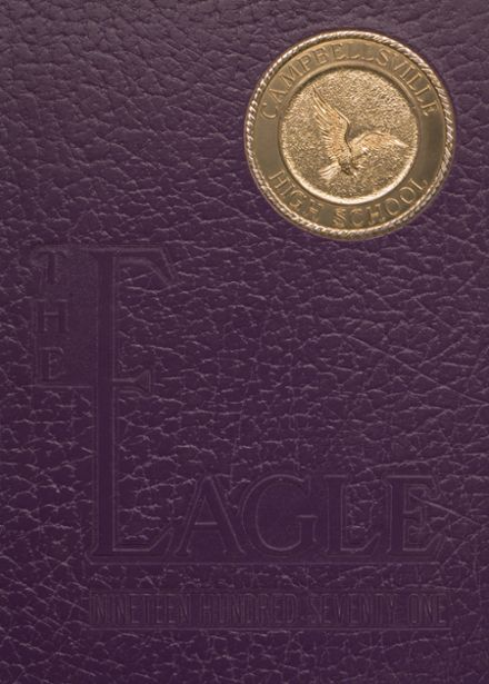 1971 Campbellsville High School Yearbook Cover