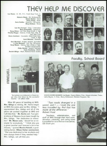 1987 Marquette High School Yearbook Page 6