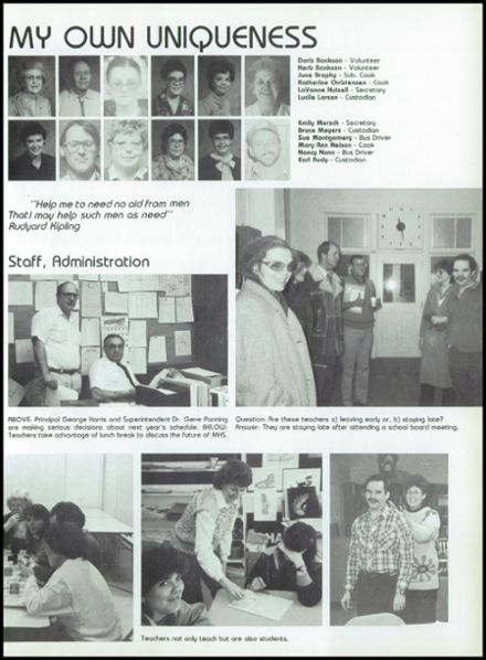 1987 Marquette High School Yearbook Page 7