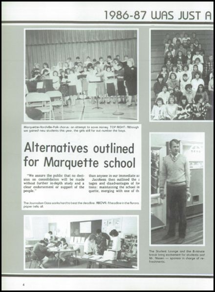 1987 Marquette High School Yearbook Page 8