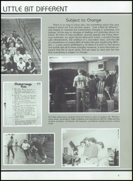 1987 Marquette High School Yearbook Page 9