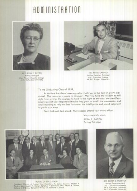 1959 Passaic High School Yearbook Page 8