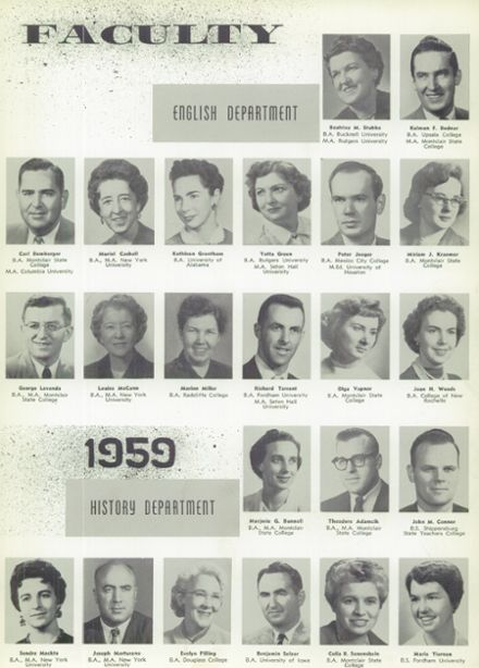 1959 Passaic High School Yearbook Page 9
