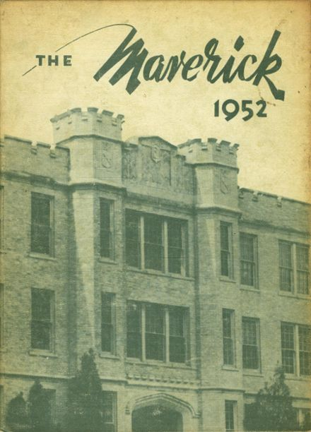 1952 Eastland High School Yearbook Cover