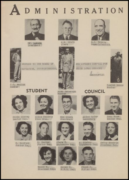 1950 Clayton High School Yearbook Page 9