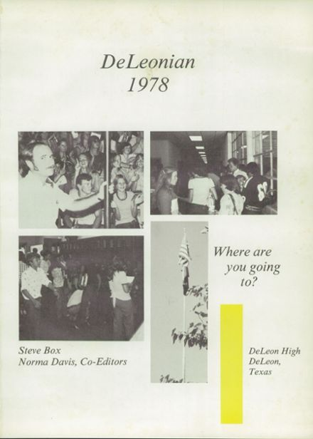 1978 DeLeon High School Yearbook Page 5