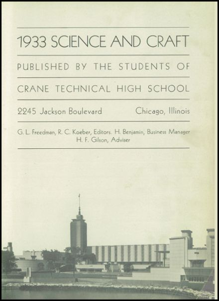 1933 Crane Technical High School Yearbook Page 5