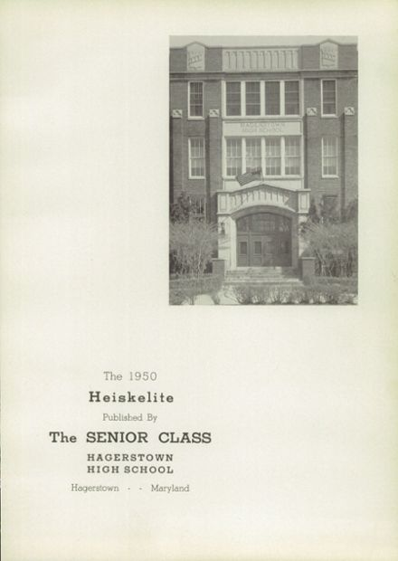 1950 Hagerstown High School Yearbook Page 7