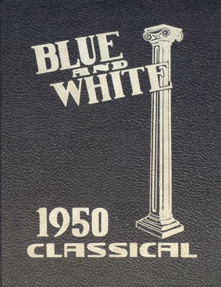 1950 Classical High School Yearbook Cover