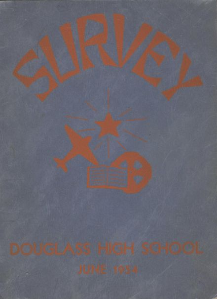1954 Frederick Douglass High School 450 Yearbook Cover