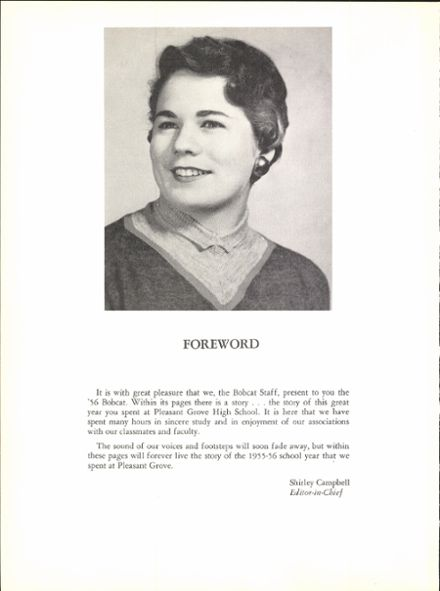 1956 Pleasant Grove High School Yearbook Page 8