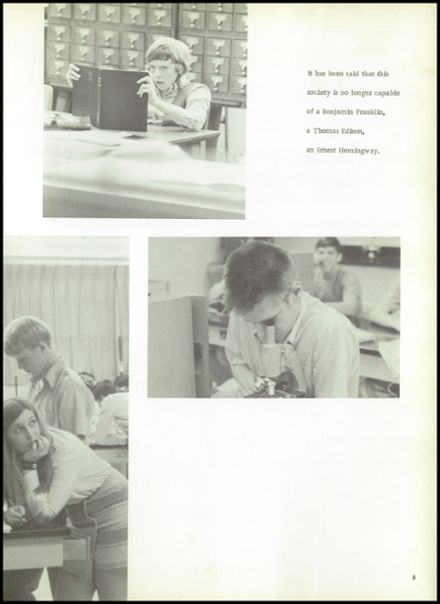 1972 Anthony Wayne High School Yearbook Page 9