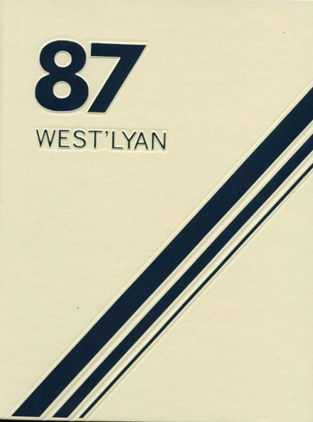 1987 Westerly/Ward High School Yearbook Cover