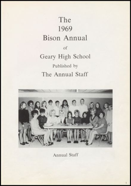 1969 Geary High School Yearbook Page 5