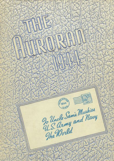 1944 Muscatine High School Yearbook Cover